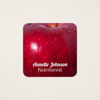 Cartão De Visitas Quadrado Olhar do falso de Apple