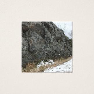 Cartão De Visitas Quadrado Paisagem de pedra rochosa natural no negócio de