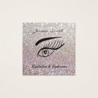 Cartão De Visitas Quadrado pestanas glittery elegantes glamoroso &
