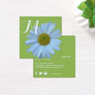 Cartão De Visitas Quadrado Planejador de evento floral do monograma das
