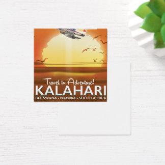 Cartão De Visitas Quadrado Poster de viagens da aventura do deserto de