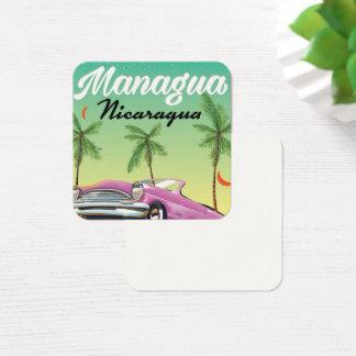 Cartão De Visitas Quadrado Poster de viagens de Managua - de Nicarágua