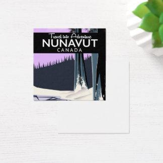 Cartão De Visitas Quadrado Poster de viagens de Nunavut Canadá