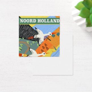 Cartão De Visitas Quadrado Poster de viagens do estilo do vintage de Noord