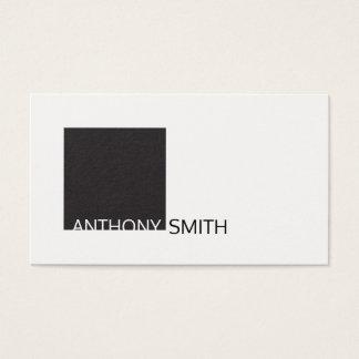 Cartão De Visitas Quadrado (preto) 2
