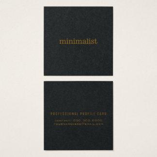 Cartão De Visitas Quadrado preto simples minimalista
