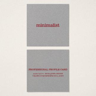 Cartão De Visitas Quadrado profissional cinzento elegante minimalista