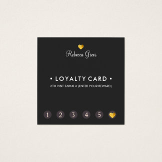 Cartão De Visitas Quadrado Quadrado bonito da lealdade do cliente do