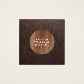 Cartão De Visitas Quadrado Quadrado moderno do desenhista do círculo do