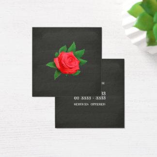 Cartão De Visitas Quadrado Quadro da rosa vermelha