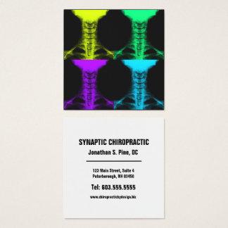 Cartão De Visitas Quadrado Quiroterapia cervical do quadrado da arte do raio
