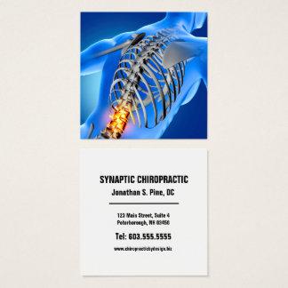 Cartão De Visitas Quadrado Quiroterapia quadrada gráfica da foto da dor nas