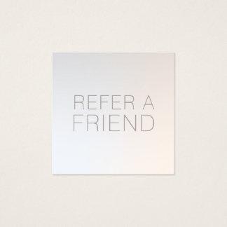 Cartão De Visitas Quadrado Referência de prata luminosa do cliente dos termas