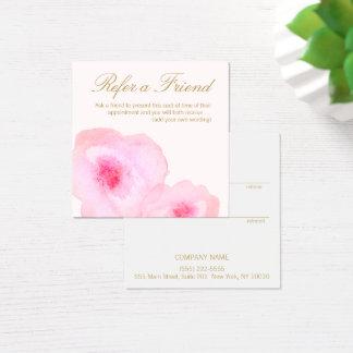 Cartão De Visitas Quadrado Referência floral do cliente da aguarela