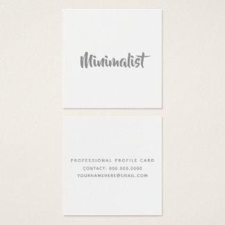 Cartão De Visitas Quadrado roteiro cinzento legal elegante minimalista no