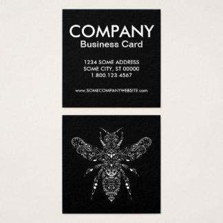Cartão De Visitas Quadrado salvar as abelhas