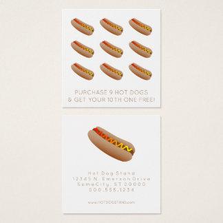 Cartão De Visitas Quadrado selo da lealdade do cachorro quente