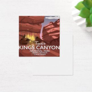 Cartão De Visitas Quadrado Serra poster de viagens dos reis Garganta de