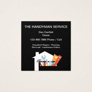 Cartão De Visitas Quadrado Serviço simples do trabalhador manual