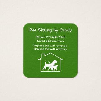 Cartão De Visitas Quadrado Serviços do animal de estimação