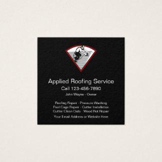 Cartão De Visitas Quadrado Serviços Home do telhado