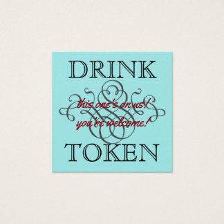 Cartão De Visitas Quadrado Símbolo da bebida