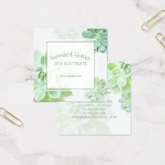 Cartão De Visitas Quadrado Succulent elegante bonito