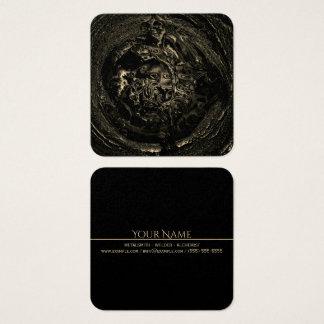 Cartão De Visitas Quadrado Tan preto DERRETIDO Metalsmith