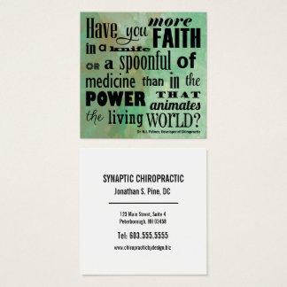 Cartão De Visitas Quadrado Tem você mais quiroterapia da aguarela da fé