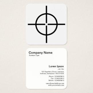 Cartão De Visitas Quadrado Vista de arma