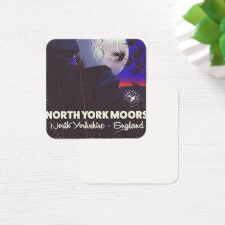 Cartão De Visitas Quadrado York norte amarra o poster de viagens de
