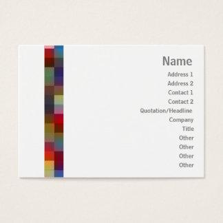 Cartão De Visitas Quadrados da cor - carnudos