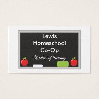 Cartão De Visitas Quadro da capoeira de Homeschool com maçãs