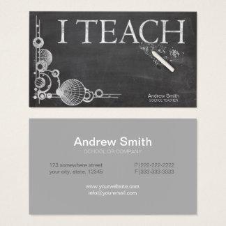 Cartão De Visitas Quadro formal 'mim Teach