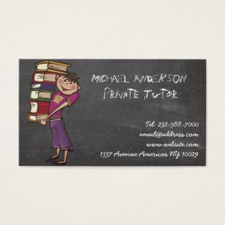 Cartão De Visitas Quadro-negro do tutor privado