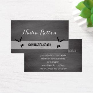 Cartão De Visitas Quadro social do treinador da ginástica dos meios