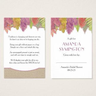 Cartão De Visitas Queda da folha do outono nenhum Tag 3973 do pedido