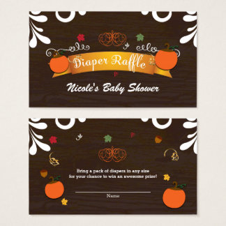 Cartão De Visitas Queda nas folhas das abóboras do amor & no Raffle