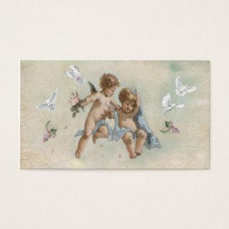Cartão De Visitas Querubins e pombas