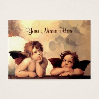 Cartão De Visitas Querubins Raffaelo Sanzio de Sistine Madonna