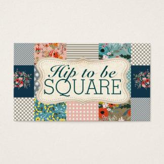 Cartão De Visitas Qulter que estofa a edredão floral do bloco das