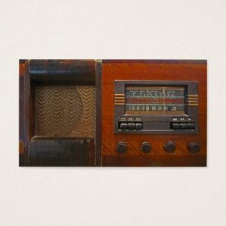 Cartão De Visitas Rádio do vintage