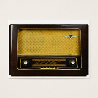Cartão De Visitas rádio velho