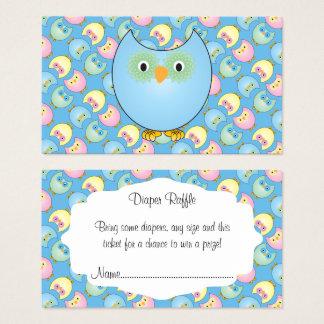 Cartão De Visitas Raffle bonito azul Pastel da fralda do bebê da