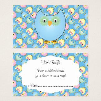 Cartão De Visitas Raffle bonito azul Pastel do livro do bebê da