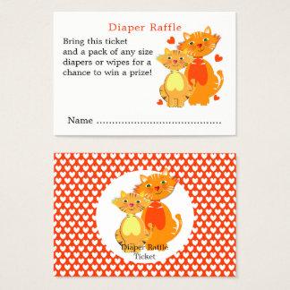 Cartão De Visitas Raffle bonito da fralda do bebê do gato e do