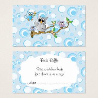 Cartão De Visitas Raffle bonito do livro do chá de fraldas das
