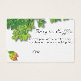 Cartão De Visitas Raffle da fralda do chá de fraldas do carvalho do