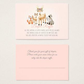 Cartão De Visitas Raffle da fralda do Fox de guaxinim dos cervos dos