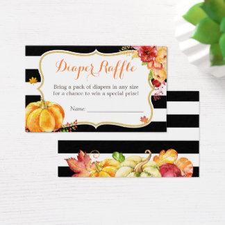 Cartão De Visitas Raffle floral da fralda do chá de fraldas da queda